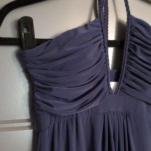 MISA Los Angeles NAVY ANYA halter dress SZ M